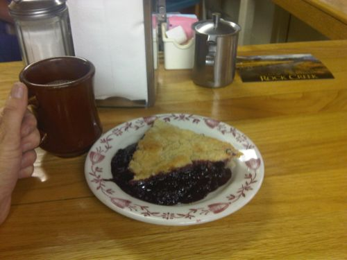 blackberry pie at Pie in the Sky