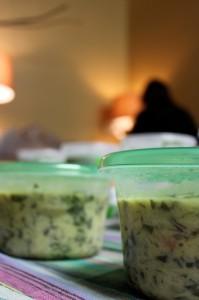 Persian yogurt and rice soup