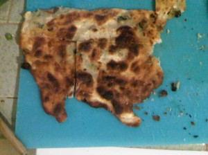 scallion pancake shaped like USA