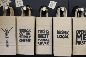 Saucy Sacks wine gift bags