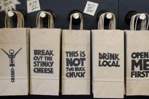 Saucy Sacks wine gift bags