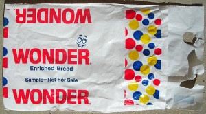 Wonderbread sample bag from the '70s