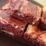 Read Salute This: Fourth of July Red Velvet Swirled Brownies