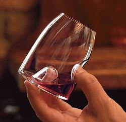 Ergonomic wine glasses