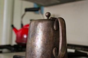 Grandma's silver teapot