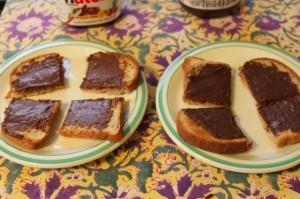 taste test - Nutella vs. TJ's Cocoa almond spread