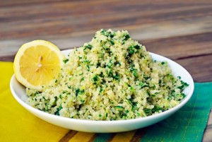 quinoa pilaf with lemo and zucchini