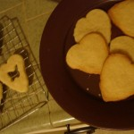 Read My heart on a plate: Sorta shortbread valentine cookies with jam