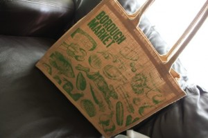 borough market jute bag
