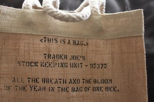 cute trader joe's jute bag