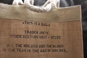 cute trader joe's jute bag