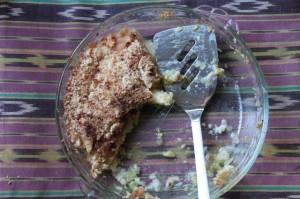 Apple crisp, after
