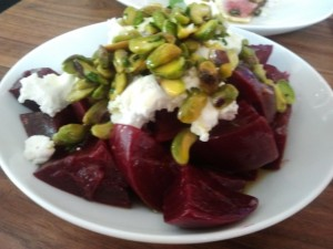 roasted beets at Farmshop LA