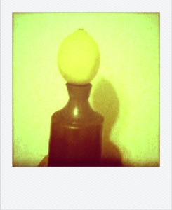 The juice of a quarter slice of lemon. Yes I'm having a fun night with a cell phone camera...