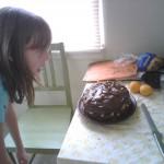 Read Pumpkin cake with sour cream ganache